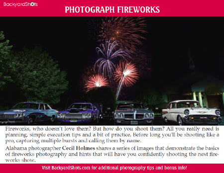 Photograph Fireworks Photography e-Guide